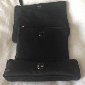 Multiple size makeup and travel pouches